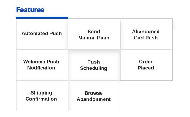 Types of web push notification