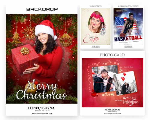 Holidays Photography Templates