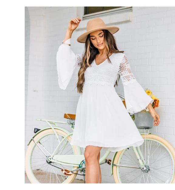 mint white dress