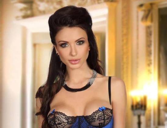 dark blue corset