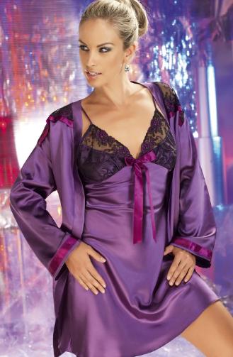 purple night dress