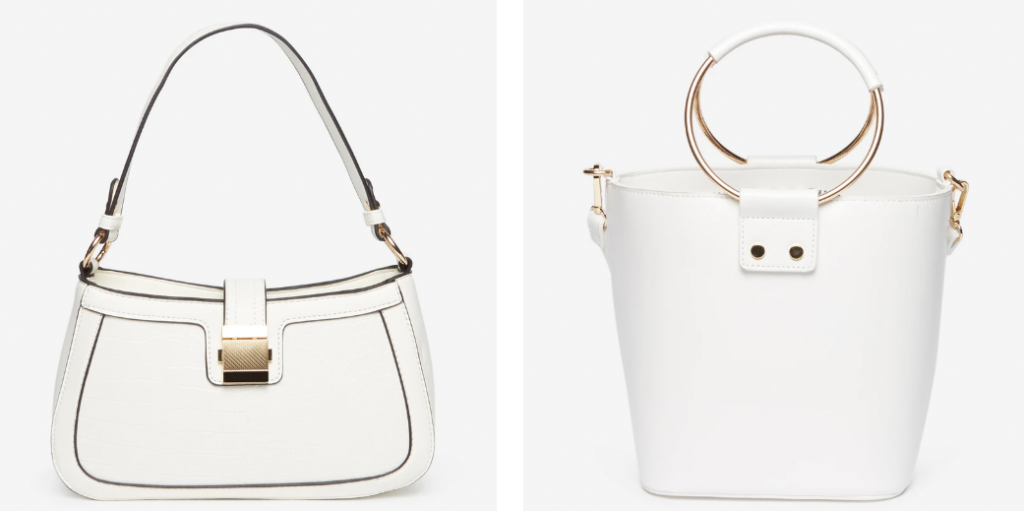 white bag for ladies