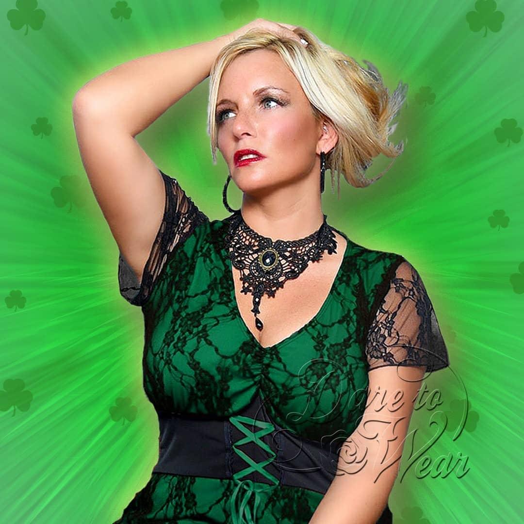 Jade Green Irish Gothic Corset Top