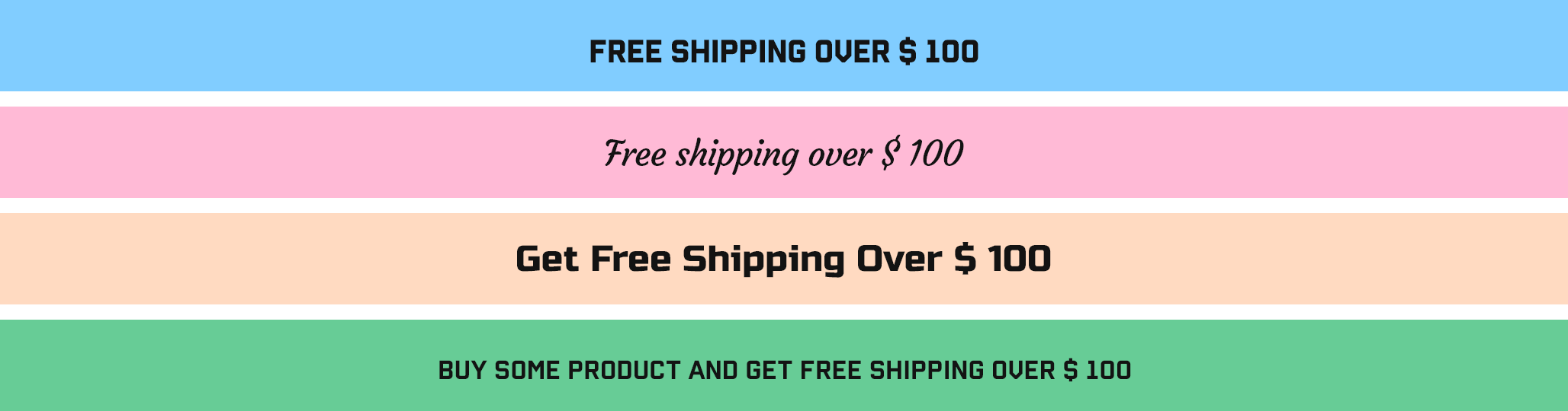Shopify Announcement bar Free Shipping