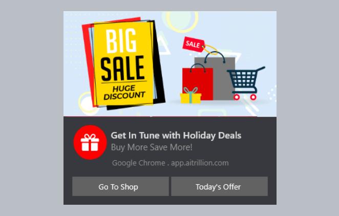 Shopify Web Push Notification