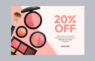Cosmetic Store Popup Discount offer