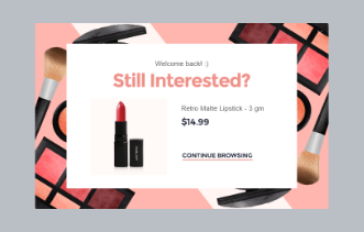 Cosmetic Store - Exit Intent Popup