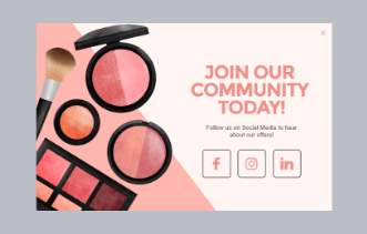Cosmetic Store - Social Engagement Popup
