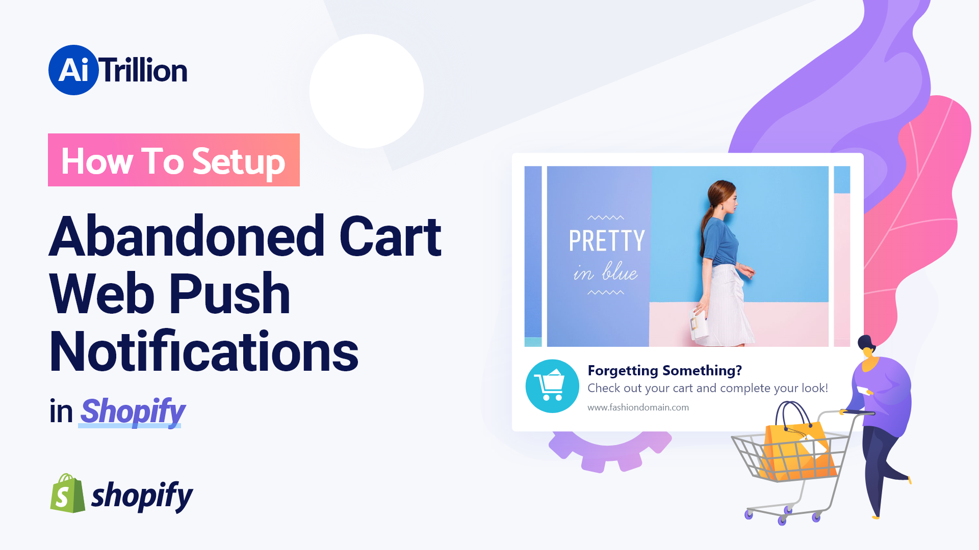 Set up abandoned cart web push notifications