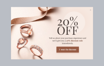 Jewelry Store - Discount Offer Popup