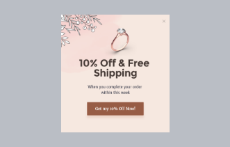 Jewelry Store - Discount Popup