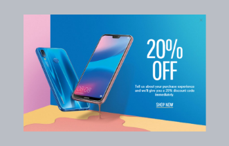 Electronic Store – Discount Offer Popup