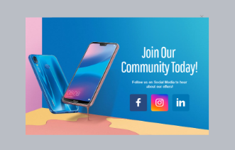 Electronic Store – Social Engagement Popup