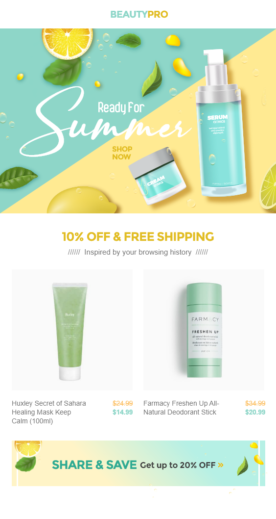 Cosmetic Shopify Store Welcome Email Template