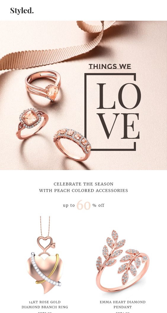 Jewelry Shopify Store Welcome Email Template