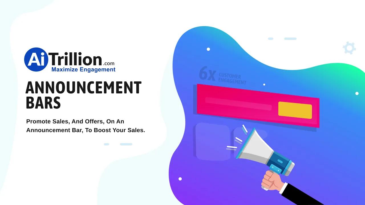 eCommerce Announcement & Countdown Timer Bar AiTrillion