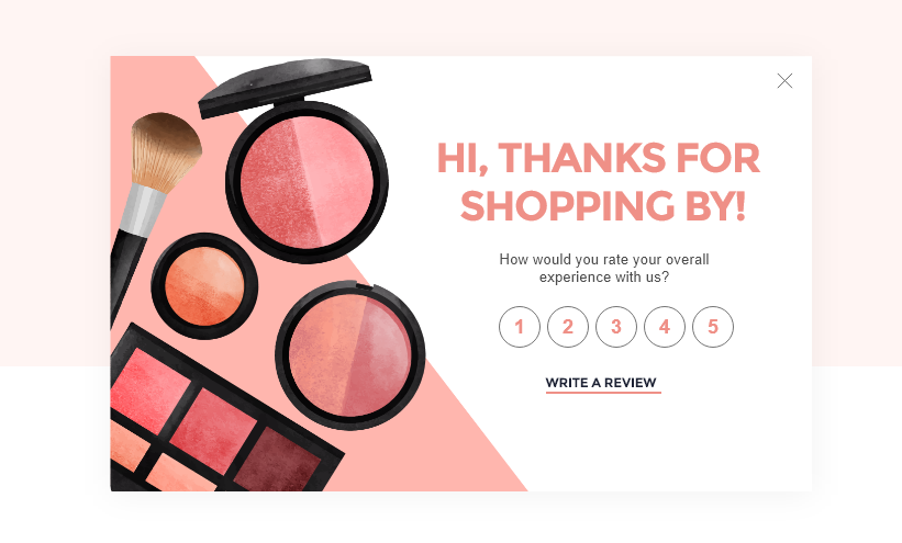 Review template for cosmetic shop