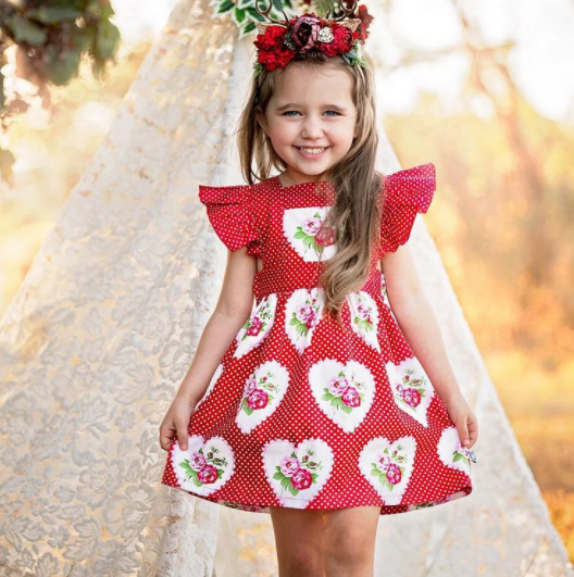 red frock for girls