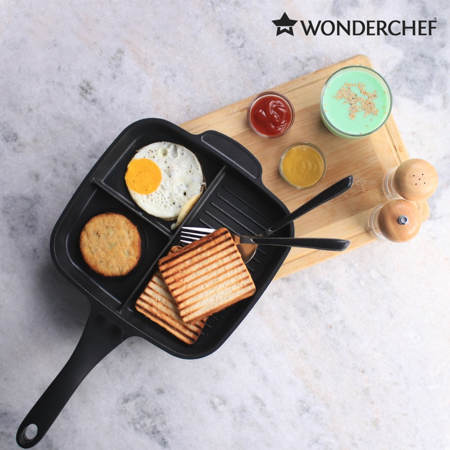 Grill fry pan